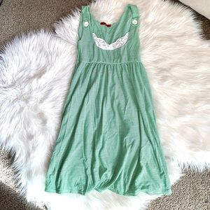 Hot Kiss Green and White Striped Tank Dress